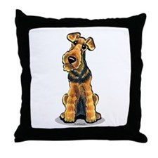Airedale Welsh Terrier Throw Pillow