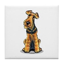 Airedale Welsh Terrier Tile Coaster