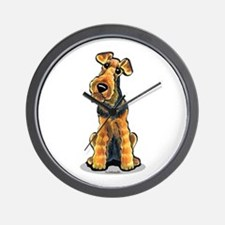 Airedale Welsh Terrier Wall Clock