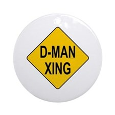 D-man Xing Ornament (Round)
