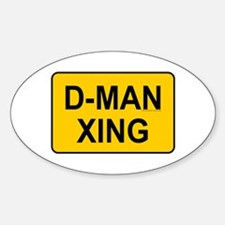 D-man Xing Oval Decal