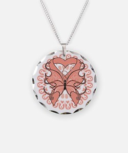 Tattoo Butterfly Ribbon Necklace