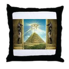 Funny Pyramids Throw Pillow