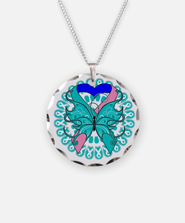 Thyroid Cancer Butterfly Necklace