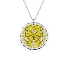 Yellow Butterfly Ribbon Necklace