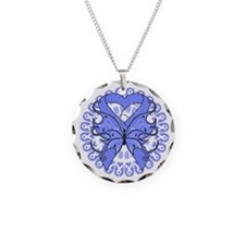 Periwinkle Butterfly Ribbon Necklace