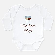 I Go Both Ways Long Sleeve Infant Bodysuit