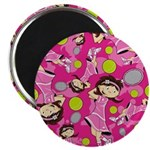 "Cute Little Tennis Girl 2.25"" Magnet (100 Pk)"