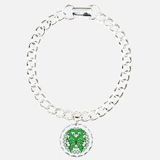 Green Butterfly Ribbon Bracelet