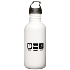 Eat Sleep Talk Water Bottle