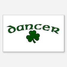 Irish Dancer Shamrock Rectangle Decal