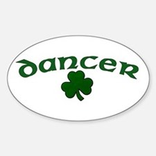 Irish Dancer Shamrock Oval Decal