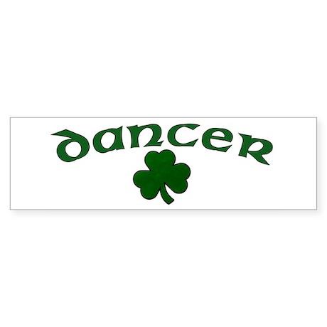 Irish Dancer Shamrock Bumper Sticker