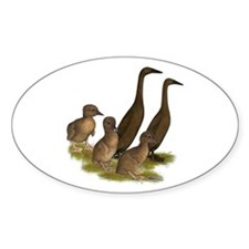 Chocolate Runner Duck Family Decal