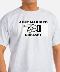 Just Married Chelsey Ash Grey T-Shirt