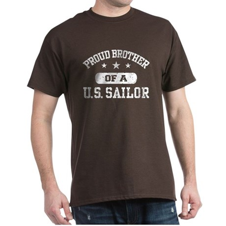 Proud Brother of a US Sailor Dark T-Shirt