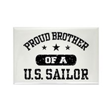 Proud Brother of a US Sailor Rectangle Magnet