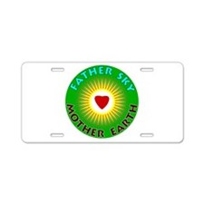 Father Sky Mother Earth Aluminum License Plate