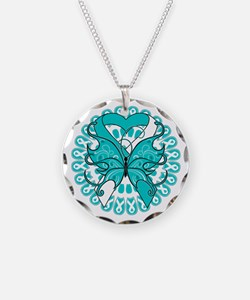 Cervical Cancer Butterfly Necklace