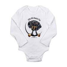 Dapple Dachshund IAAM Long Sleeve Infant Bodysuit