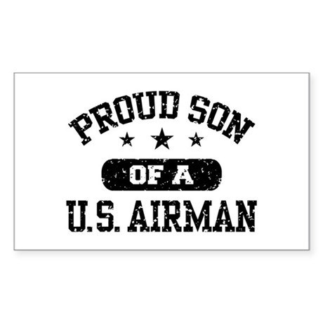 Proud Son of a US Airman Sticker (Rectangle)
