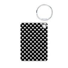 Black and White Polka Dot Keychains