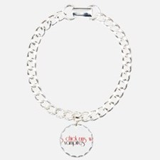 This Chick Runs With Vampires Charm Bracelet, One