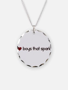 I Love Boys That Sparkle Necklace