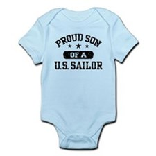 Proud Son of a US Sailor Infant Bodysuit