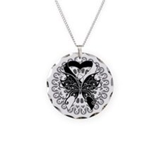 Carcinoid Cancer Butterfly Necklace