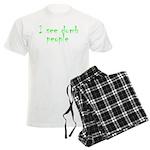Dumb people Men's Light Pajamas