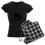barrel racing silhouette Women's Dark Pajamas