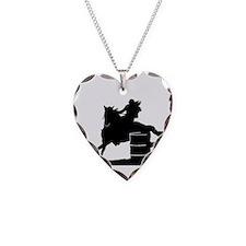 barrel racing silhouette Necklace