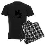barrel racing silhouette Men's Dark Pajamas