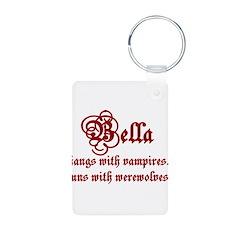 Bella runs Keychains