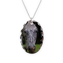 Appaloosa Necklace Oval Charm
