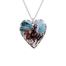 Cute Race horses Necklace