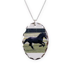 Baron Galloping Necklace Oval Charm