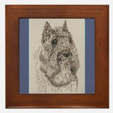 Bouvier des Flandres Framed Tile