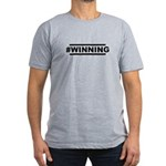 #WINNING Men's Fitted T-Shirt (dark)