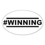 #WINNING Sticker (Oval 50 pk)