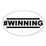 #WINNING Sticker (Oval 50 pk)