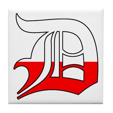 Detroit Polish D Tile Coaster