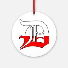 Detroit Polish D Ornament (Round)