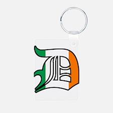Detroit Irish D Keychains