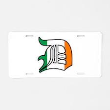 Detroit Irish D Aluminum License Plate
