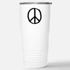 pease sign Stainless Steel travel mug