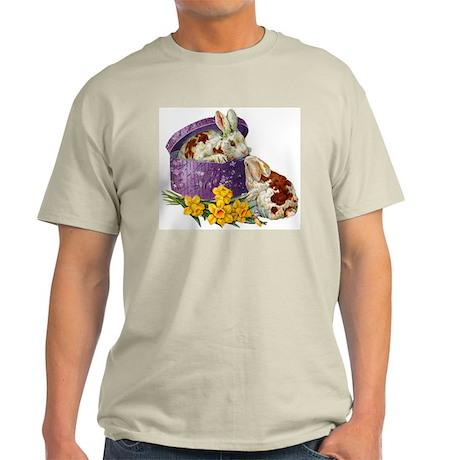 Vintage Easter Bunnies Ash Grey T-Shirt
