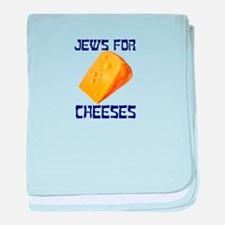 Jews for Cheeses baby blanket