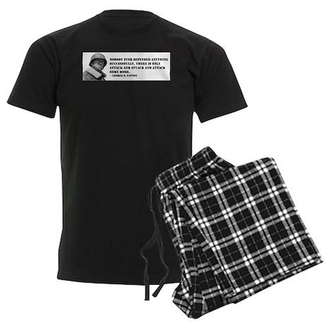 Patton Quote - Attack Men's Dark Pajamas